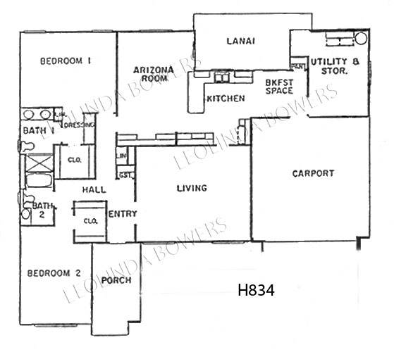 Sun City West Hopi Model Floor Plan