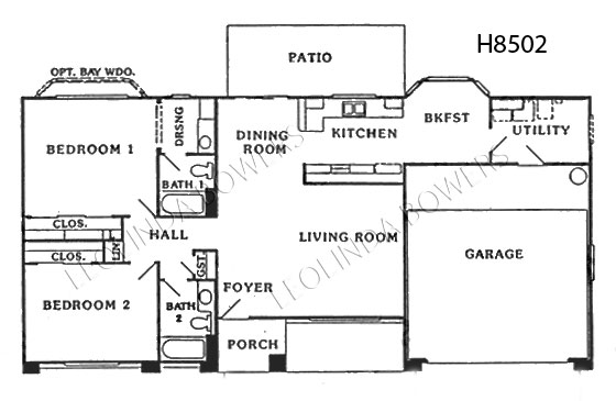 Sun City West Bridgeford Model Floor Plan
