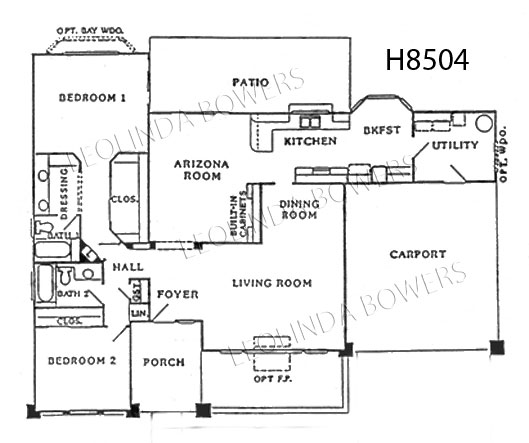 Sun City West Cambridge etal Model Floor Plan