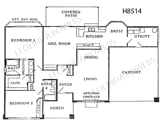 Sun City West Capistrano Model Floor Plan