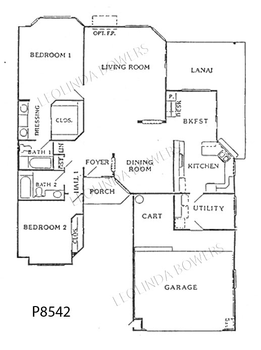 Sun City West Granada 85 and Sierra Vista Model Floor Plan