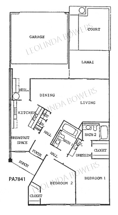 Sun city west pa7841 patio apartment floor plan for Backyard apartment floor plans