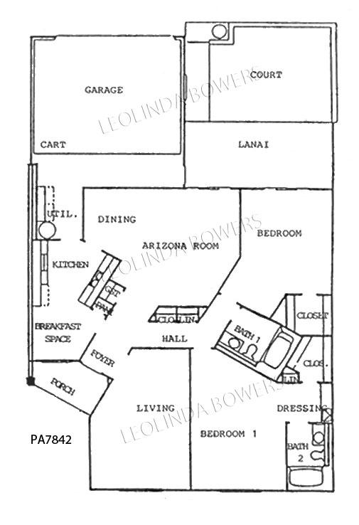Sun City West Model PA7842 Patio Apartment Floor Plan