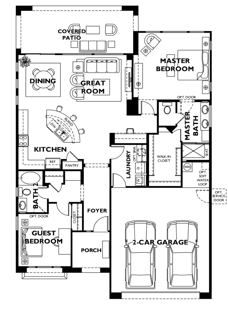 Trilogy at Vistancia ST TROPEZ Model Floor Plan
