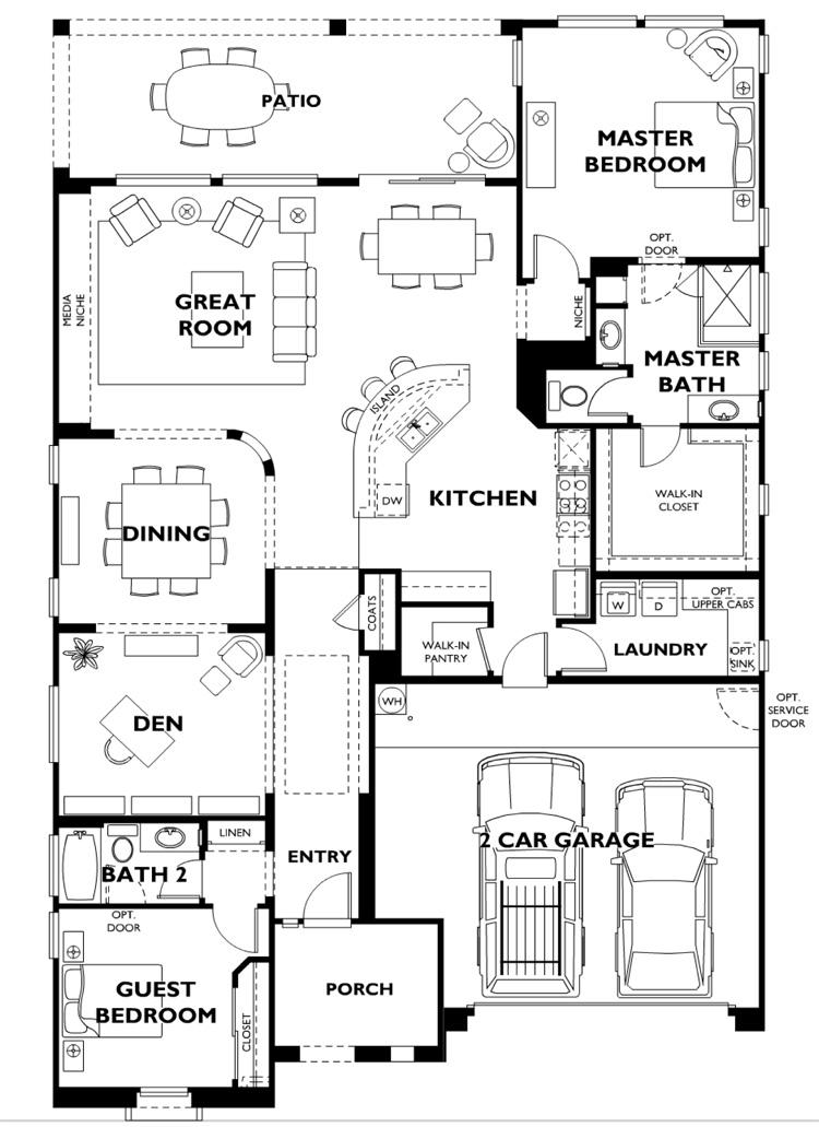 Trilogy at Vistancia SUSCITO Model Floor Plan